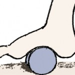 Ice and roll stretch to relieve plantar fasciitis pain